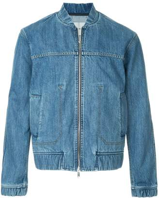 Cerruti denim bomber jacket