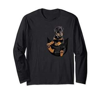Doberman Pocket Puppy Long sleeve! Cute Dog Lover