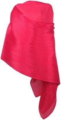 Pleats Please Issey Miyake pleated wrap long-sleeve blouse