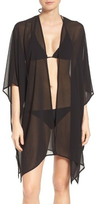 Women's Halogen Chiffon Cover-Up Kimono $29 thestylecure.com