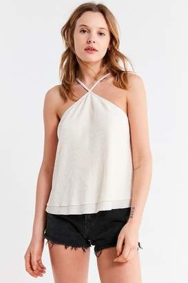 Urban Outfitters Flowing Plisse Halter Tank Top