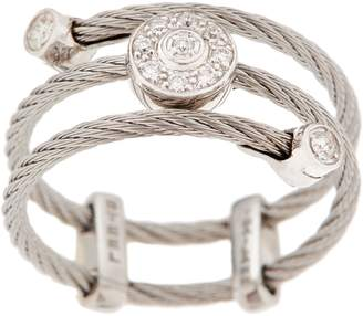 Alor Cable Stainless Steel & Diamond Adjustable Ring