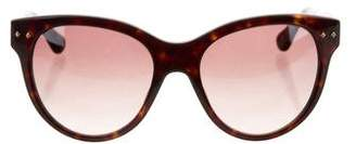 David Yurman Tortoiseshell Logo Sunglasses