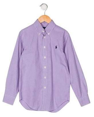 Ralph Lauren Polo Boys' Plaid Button-Up Shirt