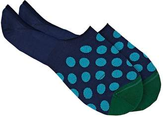 Paul Smith Men's Dotted Stretch Cotton-Blend No-Show Socks