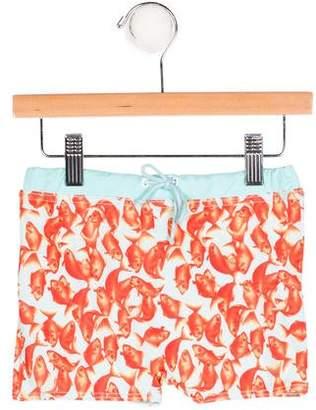 Rachel Riley Girls' Fish Print Swim Shorts w/ Tags