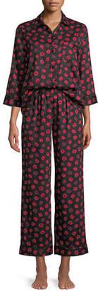 Kate Spade Long Printed Sateen Pajama Set