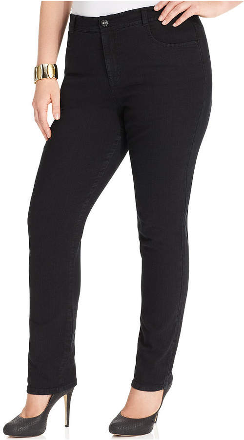 Style&Co. Style & Co Plus Size Tummy-Control Slim-Leg Jeans, Created for Macy's