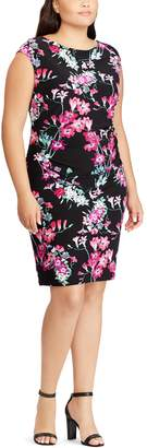 Chaps Plus Size Floral Sheath Dress
