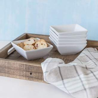 """Better Homes & Gardens Better Homes and Gardens 5"""" Square Appetizer Bowls, White, Set of 6"""