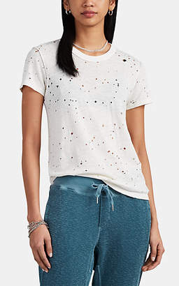 ccdd7e76 NSF Women's Alessi Distressed Slub Hemp-Cotton T-Shirt - White