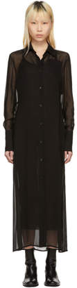 Yang Li Black Floor-Length Shirt Dress