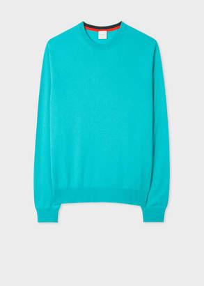 Paul Smith Men's Turquoise Cashmere Crew Neck Sweater