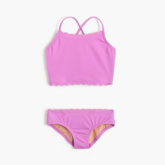 Girls' scalloped tankini set $59.50 thestylecure.com