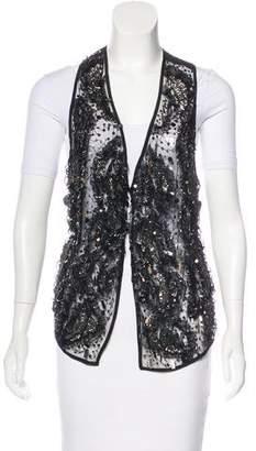 Richard Chai Silk Embellished Vest