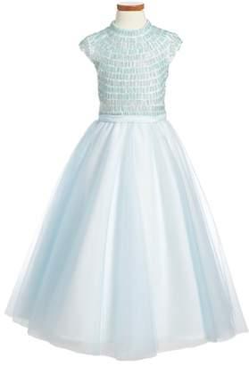 Joan Calabrese for Mon Cheri Beaded Dress