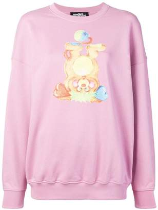 Jeremy Scott bear print sweatshirt