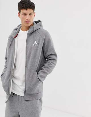 Jordan Jumpman Logo Hoodie in Grey