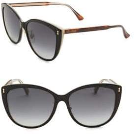 Gucci 58MM Horn Oversized Cat Eye Sunglasses