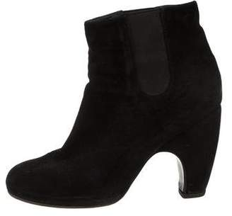 Rachel Comey Suede Round-Toe Ankle Boots