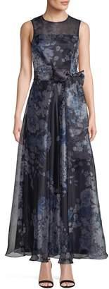 Eliza J Floral Illusion Gown
