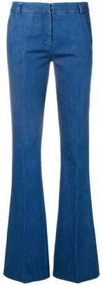 Kiltie flared cuff trousers