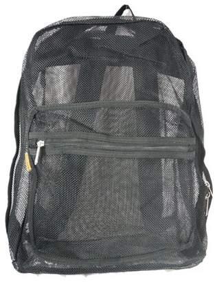 K-Cliffs Mesh Backpack See through Student School Bag Bookbag Mesh Net Daypack Black