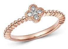 Bloomingdale's Diamond Clover Stacking Band in 14K Rose Gold, 0.10 ct. t.w. - 100% Exclusive