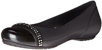 crocs Women's Cap Toe Rhinestone Flat $49.99 thestylecure.com