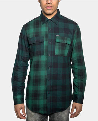 Sean John Men Light & Dark Plaid Shirt