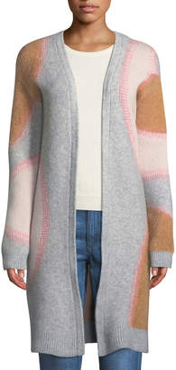 Tabula Rasa Drawa Long Open-Front Wool/Mohair Cardigan