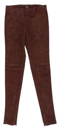 Balenciaga Suede High-Rise Pants