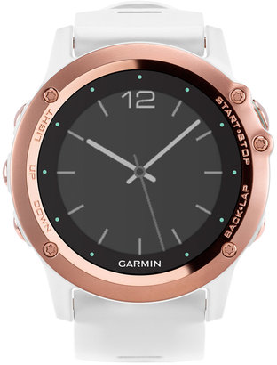 Garmin Women's Digital Fenix 3 Sapphire White Silicone Strap Smart Watch 51mm 010-01338-50 $599.99 thestylecure.com