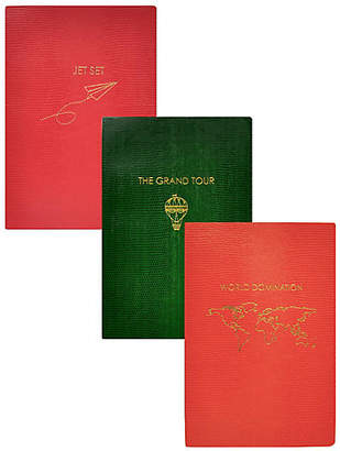 Sloane Stationery Asst. of 3 Travel Journals - Red/Green