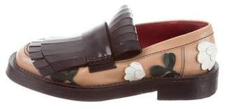 Marni Embroidered Kiltie Loafers
