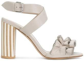 Fabiana Filippi ruffle detail sandals