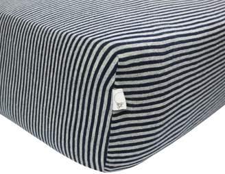 Burt's Bees Stripe Organic BEESNUG Fitted Crib Sheet