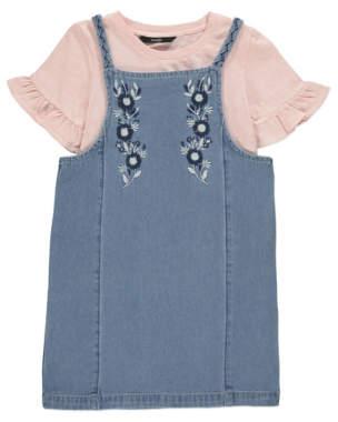 George Denim Dress Ruffled Sleeve T-Shirt Outfit