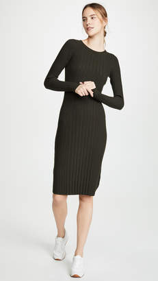Vince Mixed Rib Dress