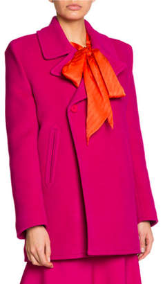 Balenciaga Baby Camel Wool Square-Shoulder Blazer