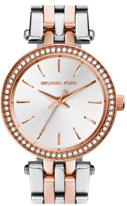 Michael Kors 'Petite Darci' Crystal Bezel Bracelet Watch, 26mm