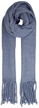 Free People Jaden Blue Knitted Scarf