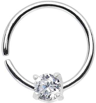 "Body Candy Women's 925 Daith Tragus Earring 18 Gauge 3/8"" Body Piercing Barbell"