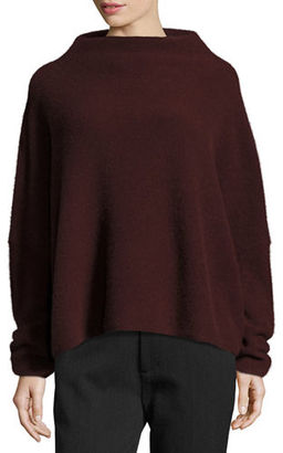 Vince Boiled Cashmere Funnel-Neck Sweater $385 thestylecure.com