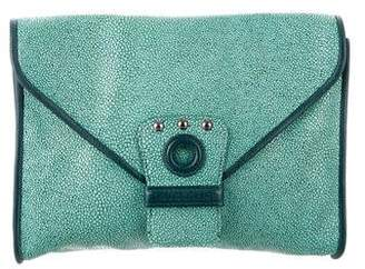 Kate Moss x Longchamp Embossed Leather Envelope Clutch