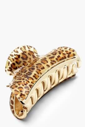 boohoo Leopard Print Bulldog Clip