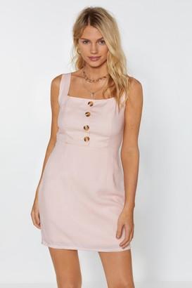 Nasty Gal Button the Run Mini Dress