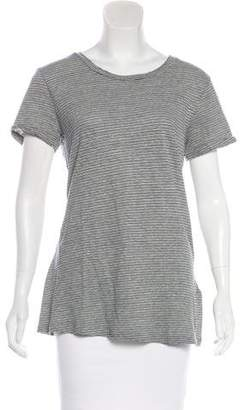 Current/Elliott Striped Short Sleeve Top