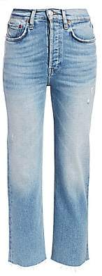 RE/DONE Women's Comfort Stretch High-Rise Stovepipe Jeans