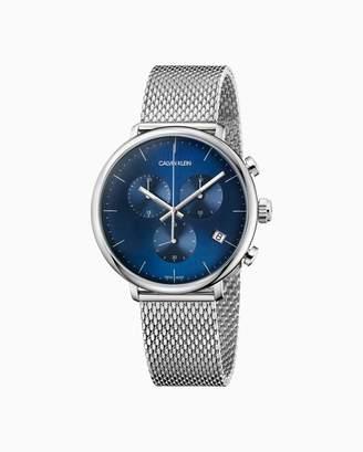 Calvin Klein High Noon Mesh Blue Dial Chronograph Watch